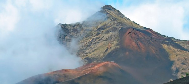 crater with trails haleakala national park maui