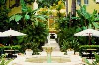 The Brazilian Court courtyard.