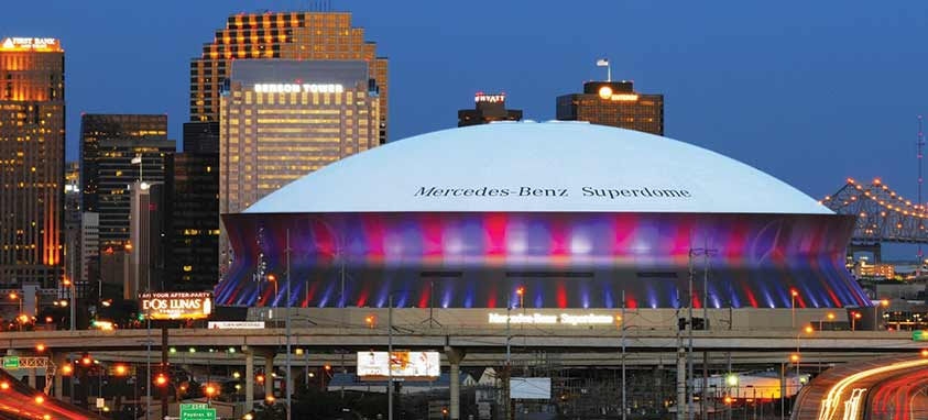 Stronger together louisiana disaster relief efforts for Mercedes benz superdome hotels