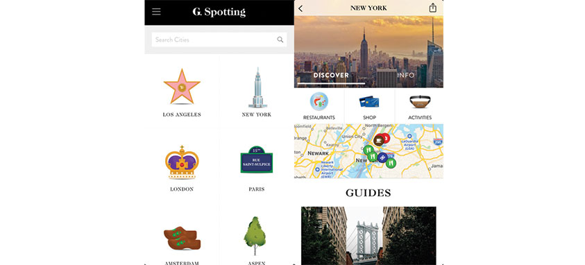 travel apps by celebrities g.spotting
