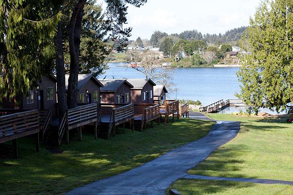 Cabins at B'nai B'rith Camp on Devil's Lake in Oregon