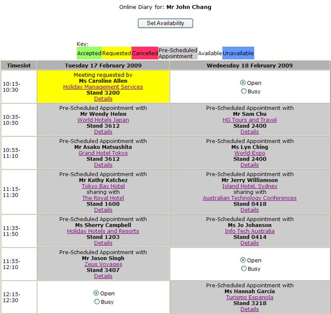 sample programs for events