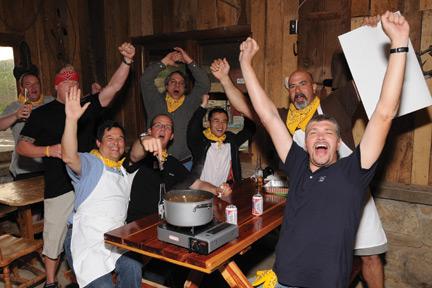 Team-building cook-off winners.