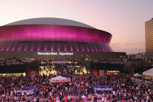 Mega meetings boost tourism industry smart meetings for Mercedes benz superdome layout