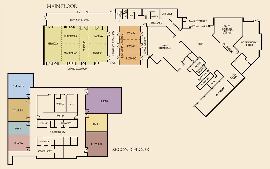Orange County Convention Center Floor Plan: Doubletree By Hilton Anaheim - Orange County