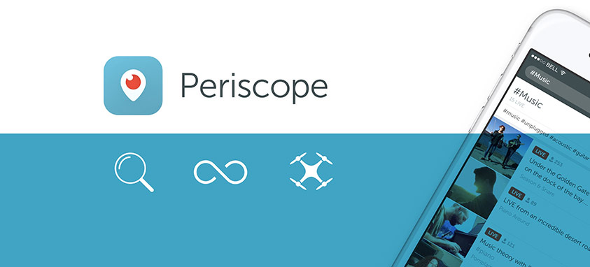 periscope live stream from drones