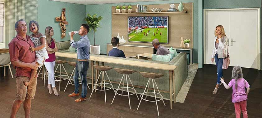 marriott element communal guest rooms